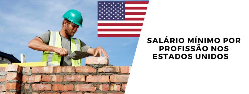 Salário mínimo por profissão nos Estados Unidos
